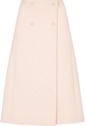 Fendi double-breasted A-line skirt