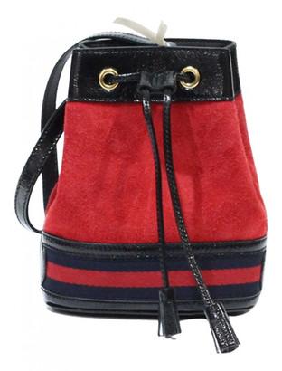 Gucci Red Suede Handbags