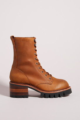 Jeffrey Campbell Sycamore Lace-Up Boots By in Yellow Size 6
