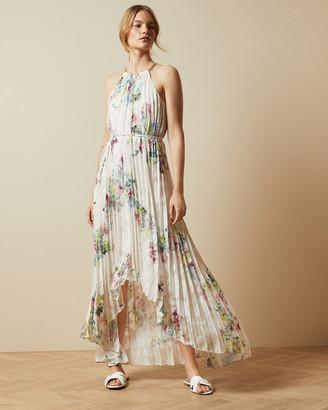 Ted Baker THRELIN Pergola pleated dip hem dress