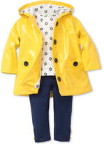 Little Me 3-Pc. Hooded Jacket, Daisy-Print T-Shirt and Leggings Set, Baby Girls (0-24 months)