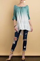 Easel Green Ombre Blouse