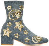 Chiara Ferragni sequin stars boots - women - Cotton/Leather/Sequin - 37