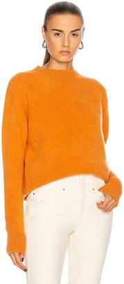 The Elder Statesman Simple Crew Sweater in Orange   FWRD