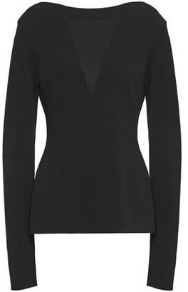 Givenchy Chantilly Lace-paneled Stretch-knit Top