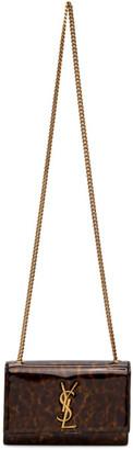 Saint Laurent Tortoiseshell Patent Small Kate Bag