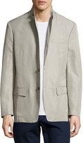 Versace Two-Button Blazer, Gray