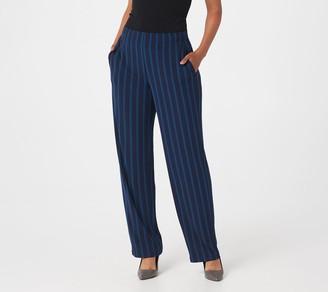 Susan Graver Regular Printed Liquid Knit Straight-Leg Pants