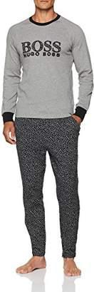 BOSS Men's Relax Long Set Pyjama (Medium Grey 030) Medium