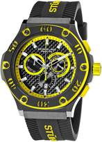 Stuhrling Original Men's 292P.335965 Prestige Swiss Made Harbinger Quartz Chronograph Date Yellow Watch