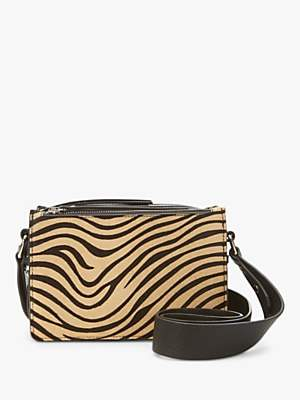 Mint Velvet Stevie Cross Body Bag, Zebra