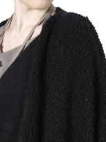 Fur Effect Knit Cape