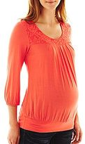 JCPenney Maternity Banded-Bottom Top