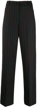 McQ Swallow Striped Straight Trousers