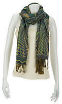 "Collection XIIX Collection 18 AbstractCircles 28"" x 80"" Scarf w/Fringe"