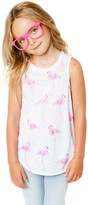 CHASER KIDS - Youth Girl's Pink Flamingos Tank