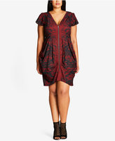 City Chic Trendy Plus Size Printed Tunic Dress