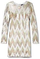 Vince Camuto Chevron Sequin Dress
