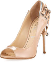 Jerome C. Rousseau Lover Patent Pump With Heel Detail