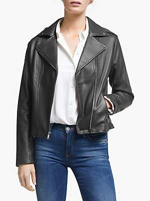 Ralph Lauren Ralph Classic Moto Leather Jacket, Hunter