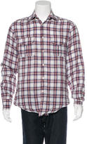 Michael Bastian Plaid Linen Shirt
