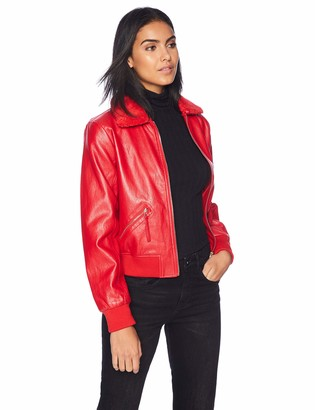 GUESS Women's Long Sleeve Tani Aviator Jacket