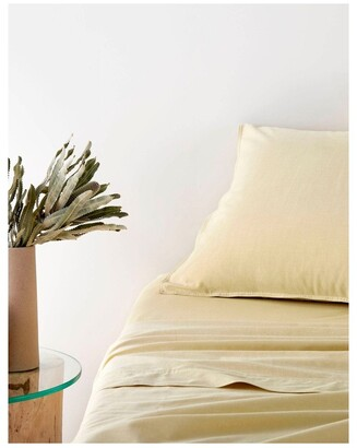 Sheridan Reilly Quilt Cover in Straw Lt Yellow King Size-Bedcover