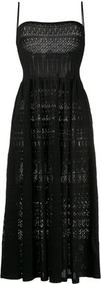 DSQUARED2 Crochet Flared Midi Dress