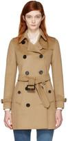 Burberry Camel Kensington Trench Coat