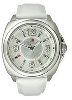 Tommy Hilfiger White Dial White Leather Ladies Watch 1781335
