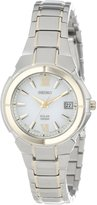 Seiko Women's Two Tone Stainless Steel Analog with Dial Watch SUT022