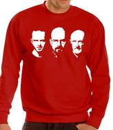 Walter Touchlines Men's Breaking Bad Hoodie with Jesse / and Mike Faces Size:L