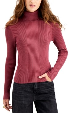 Hooked Up by IOT Juniors' Ribbed Turtleneck Sweater