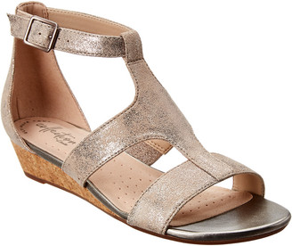 Clarks Abigail Lily Suede Wedge Sandal