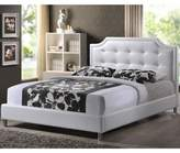 Bed Bath & Beyond Carlotta Designer King Bed with Upholstered Headboard in White