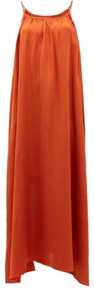 Loup Charmant Amelia Tie-shoulder Silk Maxi Dress - Copper