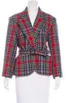 Cacharel Virgin Wool Plaid Blazer
