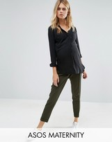 Asos Tailored Trouser With Turn Up Detail
