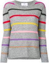 Allude rainbow striped jumper