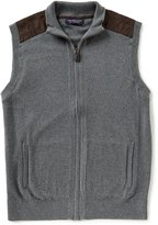 full zip sweater vest mens - ShopStyle