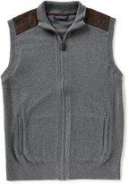 Roundtree & Yorke Full-Zip Sweater Vest