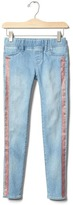 Gap High stretch glitter stripe jeggings