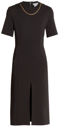 Givenchy Chain-Neck Sheath Dress