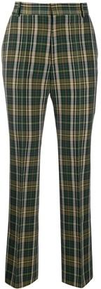 Plan C Check Print Trousers