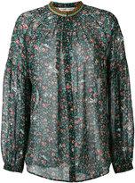 Tsumori Chisato woven collar blouse - women - Silk/Cotton - M/L