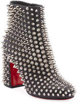 Christian Louboutin Louise Capet Spike Red Sole Booties