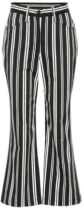 Marc Jacobs Striped high-waisted cropped pants