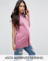 ASOS Maternity - Nursing ASOS Maternity NURSING Wrap Overlay Sleeveless Knitted Top