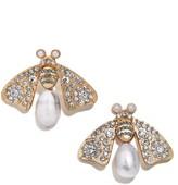 BaubleBar Buzz Genuine Pearl Button Stud Earrings
