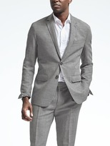 Banana Republic Slim Heritage Gray Wool Linen Suit Jacket